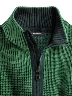 Wohlfühl-Troyer Bicolor Grün Detail 4