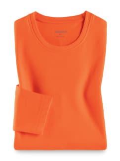 Langarm-Shirt Rundhalsausschnitt Orange Detail 1
