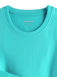 Langarm-Shirt Rundhalsausschnitt Aqua Detail 3