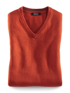 Pullunder Cashmere Touch Rost Detail 1