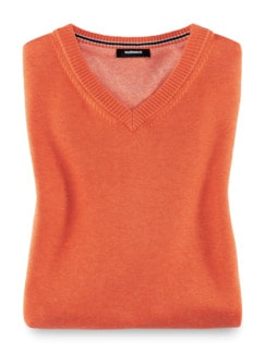 Pullunder Cashmere Touch Orange Detail 1