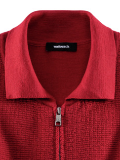 Premium Merino Strickjacke Rot Detail 3