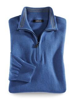Troyer Cashmere Touch Mittelblau Detail 1