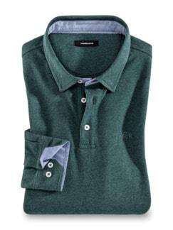 Hemdenpolo Gentleman Smaragd Detail 1