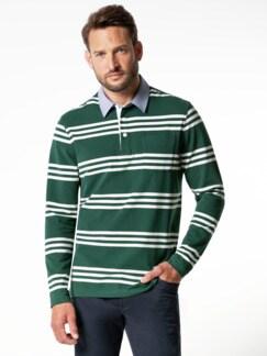 Streifen-Shirt Supersoft Dunkelgrün gestreift Detail 2