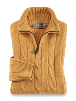 Premium Wohlfühl-Pullover Safran Detail 1