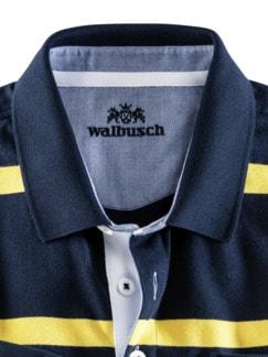 Streifen Rugby Supersoft Marine/Gelb Detail 4