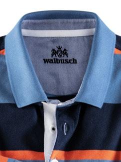 Streifen Rugby Supersoft Mittelblau/Marine Detail 3