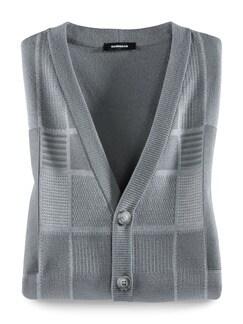 Jaqcuard-Weste Intarsia Grau Melange Detail 1