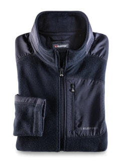 Klepper Microfleece-Jacke Navy Detail 1