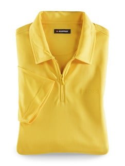 Klepper Dry Touch Polo Gelb Detail 1