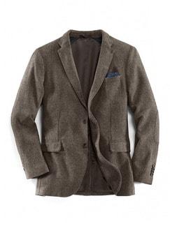 Komfort-Tweed Sakko Braun/Beige Detail 1