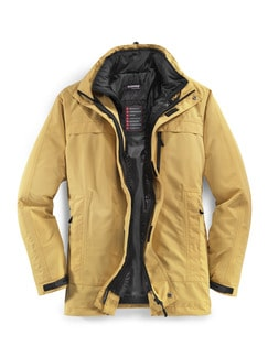 Klepper 2-in-1 Jacke Aquastop Curry Detail 1