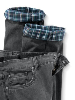 Thermo Comfortjeans Normalform Grau Detail 4