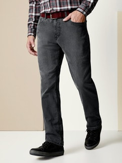 Thermo Comfortjeans Normalform Grau Detail 2