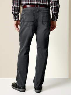 Thermo Comfortjeans Normalform Grau Detail 3