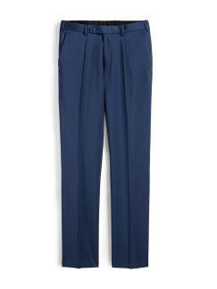 Naturstretch Anzug-Hose Mittelblau Detail 1