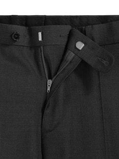 Naturstretch-Anzug-Hose Anthrazit Detail 4