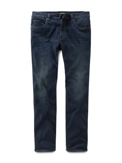 Husky Jeans Five-Pocket Dark Blue Detail 1
