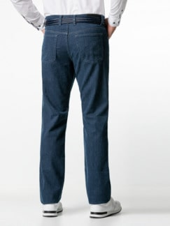 Jogger-Jeans Five Pocket Glencheck Marine Detail 3
