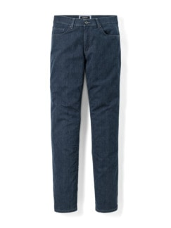 Jogger-Jeans Five Pocket Glencheck Marine Detail 1