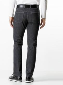 Jogger-Jeans Five Pocket Glencheck Grau Detail 3