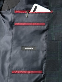 Jersey Blazer Blackwatch Blau gemusteret Detail 4