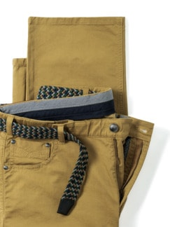 Extraglatt-Dehnbund Five-Pocket Curry Detail 4