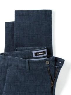 Jogger-Jeans Chino Glencheck Marine Detail 4