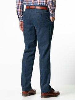 Jogger-Jeans Chino Glencheck Marine Detail 3