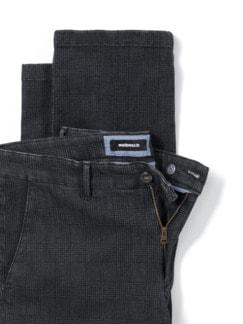 Jogger-Jeans Chino Glencheck Grau Detail 4