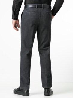 Jogger-Jeans Chino Glencheck Grau Detail 3