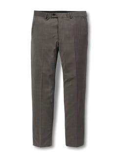 Naturstretch Anzug-Hose Braun Detail 1