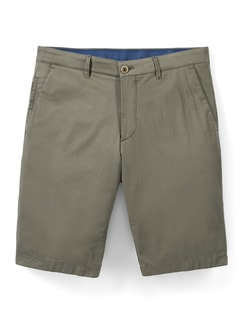 Easycare Light Cotton Bermudas Khaki Detail 1