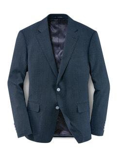 Traveller Anzug-Sakko Blau Melange Detail 1