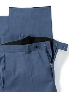 Naturstretch-Anzug-Hose Blaugrau Detail 4