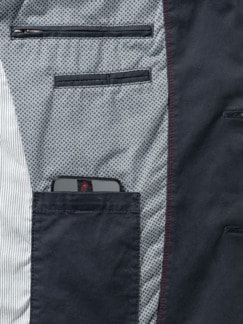 Highstretch-Sakko Pima-Cotton Marine Detail 4
