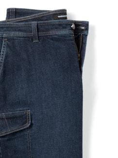 Cargo Jeans Bermudas Dark Blue Detail 4