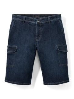 Cargo Jeans Bermudas Dark Blue Detail 1