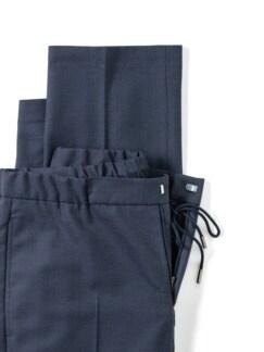 Sneaker-Anzug-Hose Dunkelblau Detail 4