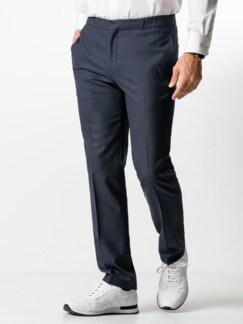 Sneaker-Anzug-Hose Dunkelblau Detail 2