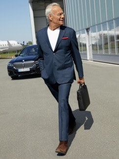 Sneaker-Anzug-Hose Dunkelblau Detail 3
