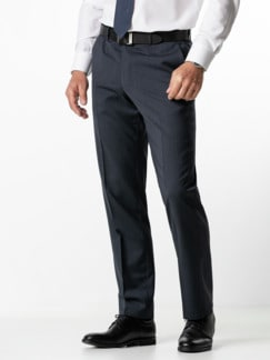 Naturstretch-Anzug-Hose Blau/Grau Karo Detail 2
