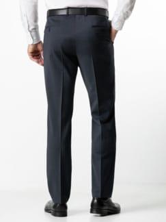 Naturstretch-Anzug-Hose Blau/Grau Karo Detail 3