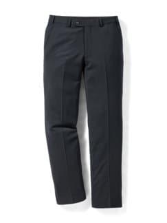 Reise-Anzug-Hose Minimalkaro Blau/Schwarz Detail 1