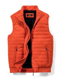 Steppweste Wash&Wear Orange Detail 1