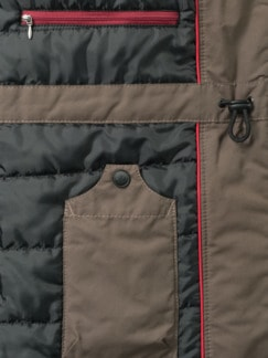 Winter-Langjacke Khaki Detail 4