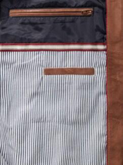 Nappaleder-Blouson Cognac Detail 3