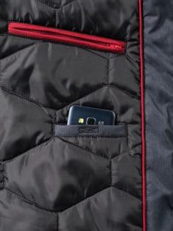Herbst Jacke Blauschwarz Detail 4