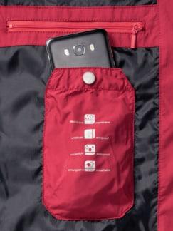 Aquastop Leichtblouson Rot Detail 3